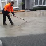 Acid wash and protecting exposed concrete on driveway