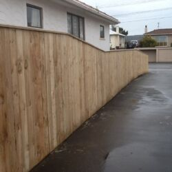 Wooden boundary fence 2