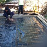 Concrete pad preparation with steel