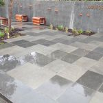Outdoor commercial paving area, mix of matt and glossy pavers