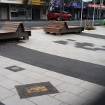 Outdoor commercial paving area