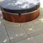 Circular edging around spa pool 2