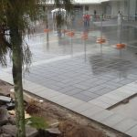 Commercial paving area, two tone colours 2