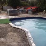 Preparing pool area before pavers