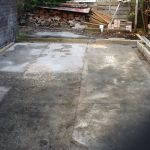 Boxed out pad before concrete